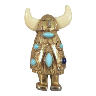 1940's Alexander Korda for Rice Weiner Viking Brooch For Sale
