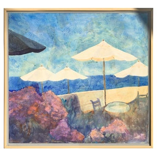Modern Painting Laguna Beach by Duzan, 1991 For Sale