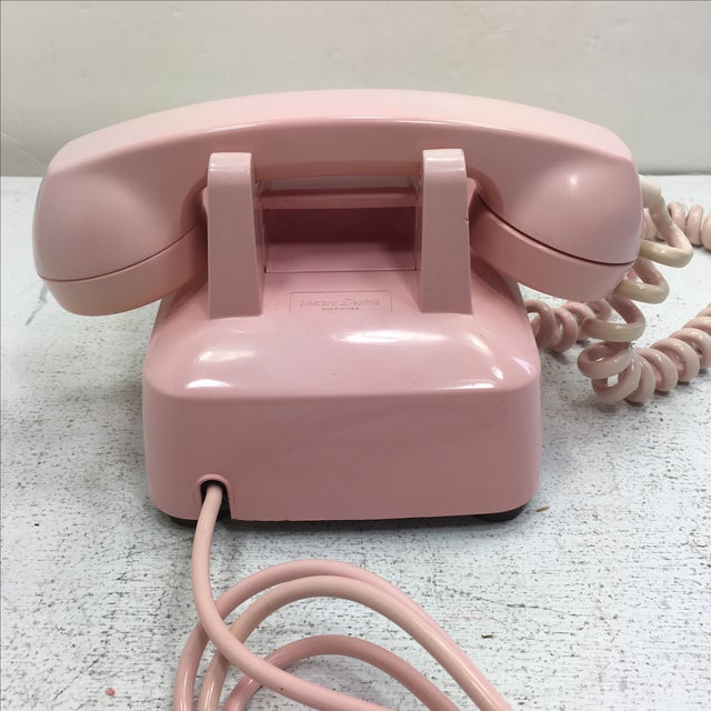 Western Electric Model 500 Pink Rotary Dial Telephone - Image 5 of 9