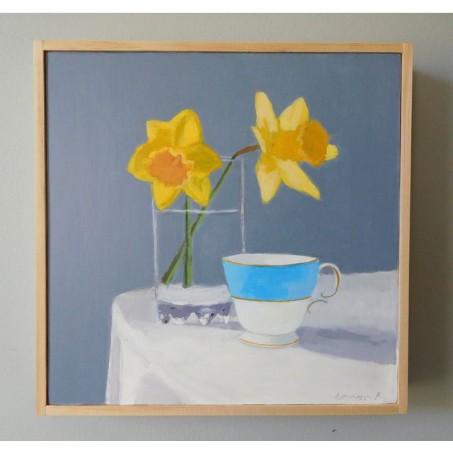 Impressionism Daffodil and Teacup by Anne Carrozza Remick For Sale - Image 3 of 7