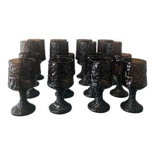 Brutalist Style Impromptu Pattern Glasses by Lenox - Set of 8 For Sale
