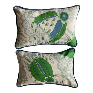 Christopher Farr Cloth Lumbar Pillows - a Pair For Sale