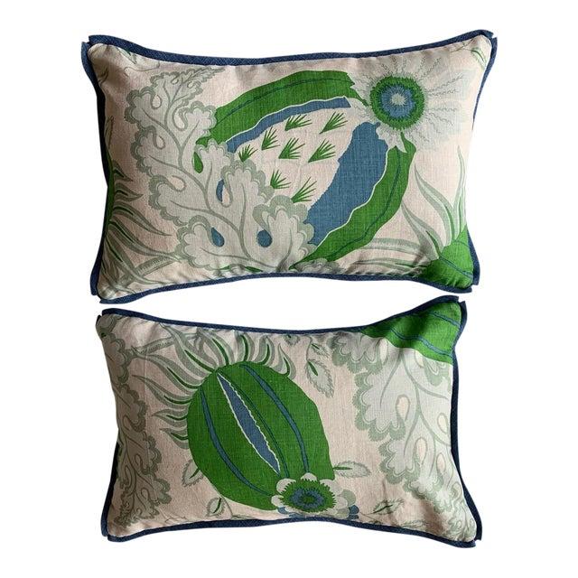 Christopher Farr Cloth Lumbar Pillows - a Pair For Sale