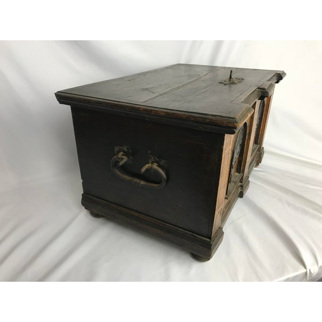 1800s Antique Gothic Style Figural Inlay Front Bible Storage Box For Sale In Portland, OR - Image 6 of 13