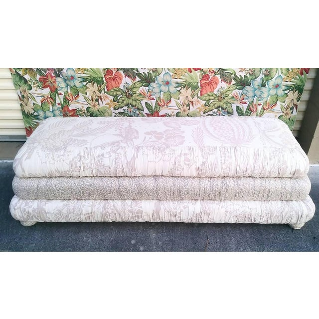 Custom Made Massive 3 Tiered Upholstered Bench Ottoman For Sale - Image 11 of 11