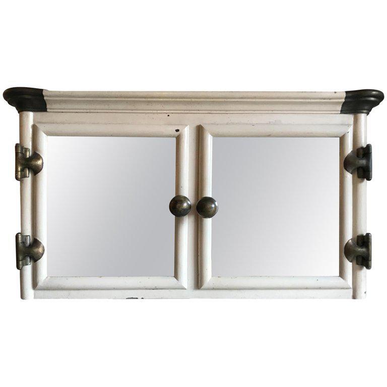 1930s Art Deco Cast Iron Wall Mount Bathroom Medicine Cabinet For Sale    Image 13 Of