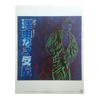"Andy Warhol Estate Rare Vintage Collector's Lithograph Print "" James Dean - Rebel Without a Cause "" 1985 For Sale"