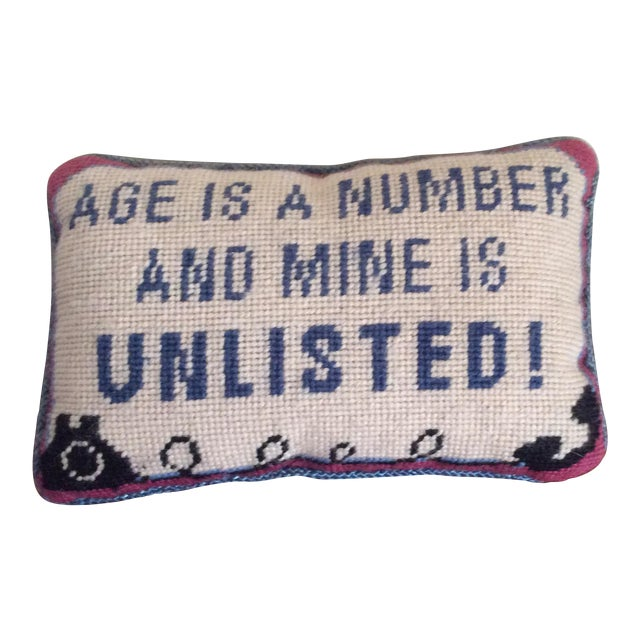 Vintage Needlepoint Pillow - Image 1 of 5