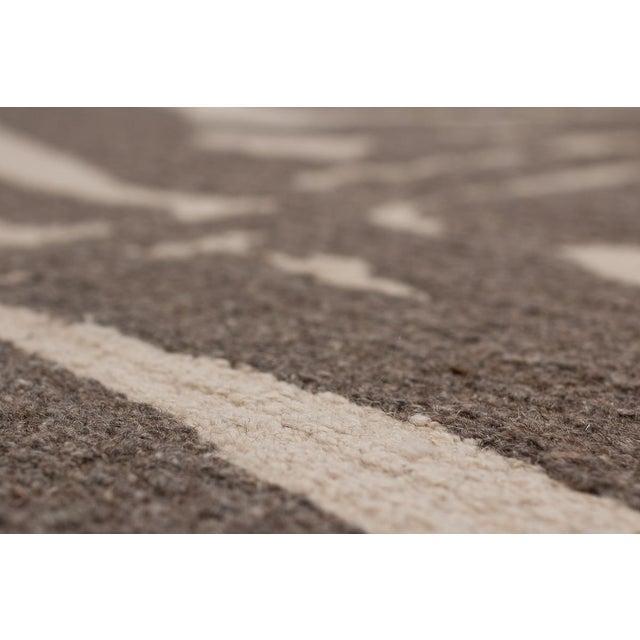 Zebra Design Brocade Weave Area Rug - 6′ × 9′ For Sale - Image 4 of 7
