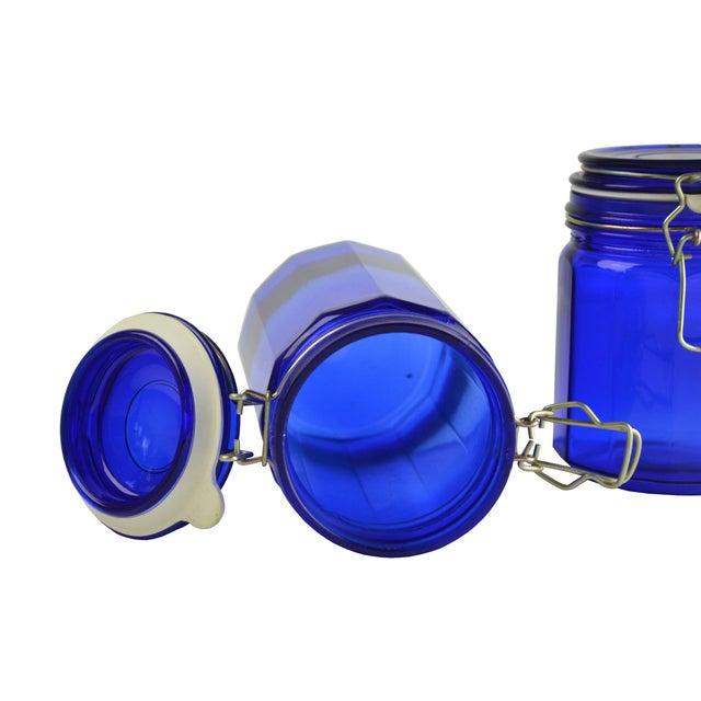 Vintage Cobalt Blue Canisters - Set of 4 - Image 5 of 5
