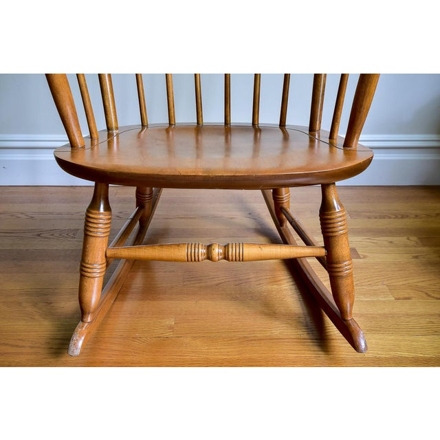1960s Vintage Nichols & Stone Co. Boston Style Rocking Chair For Sale In New York - Image 6 of 8