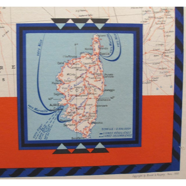 1950 Original French Maritime Map, North Africa For Sale - Image 4 of 6