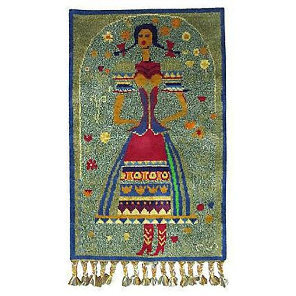 Hungarian Tapestry of a Young Woman - Image 1 of 5