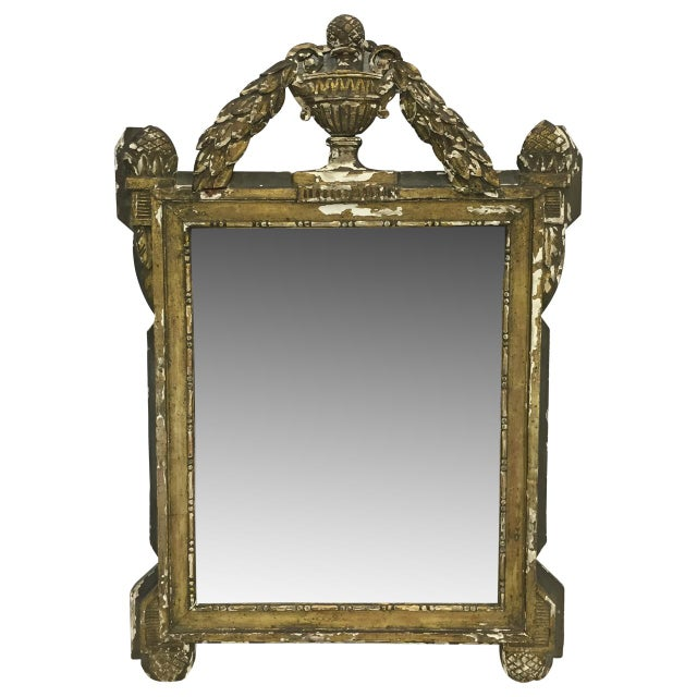 19th Century French Carved and Painted Mirror - Image 6 of 6