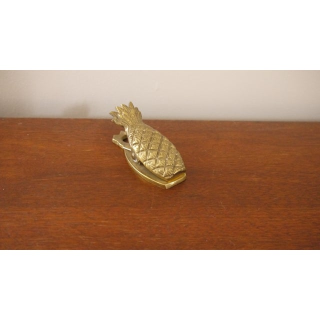 Hollywood Regency Brass Pineapple Paperclip - Image 4 of 4
