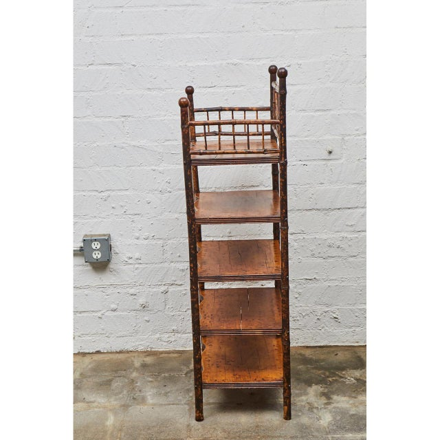 Traditional English Victorian Bamboo Shelves For Sale - Image 3 of 6
