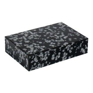 Handmade Snowflake Obsidian Stone Box