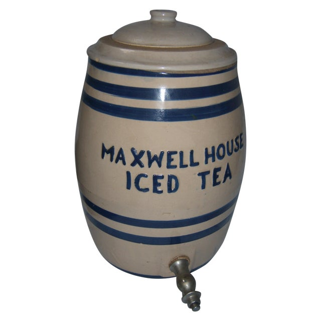 Old Maxwell House Iced Tea Ceramic Dispenser - Image 1 of 10