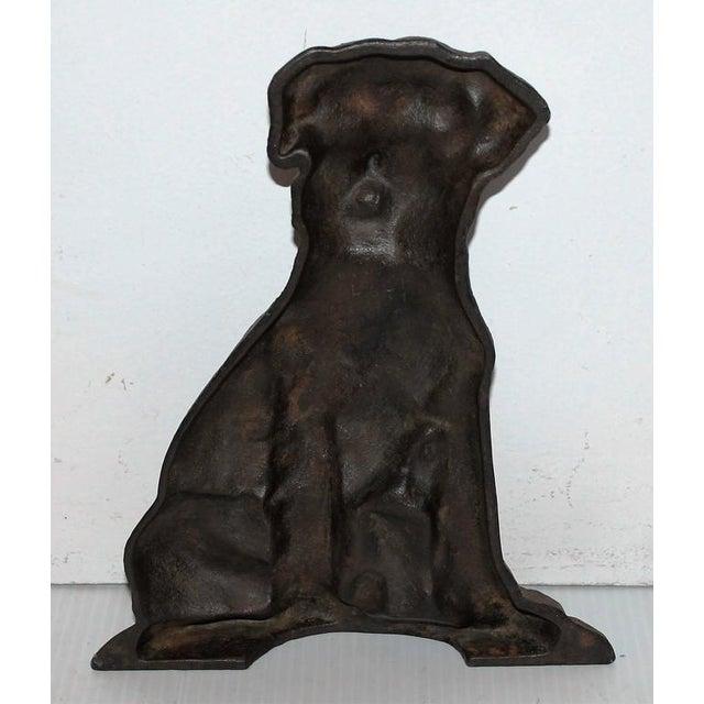 Monumental 19Thc Cast Iron Dog - Image 3 of 5