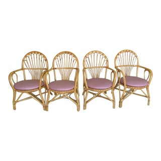 Bamboo Island Style Chairs - Set of 4 For Sale