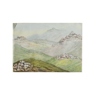 Dartmoore From Princetown Watercolor For Sale