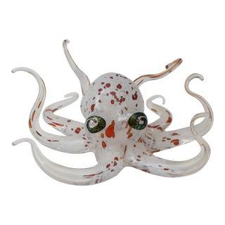 Artisan Glass Octopus Sculpture
