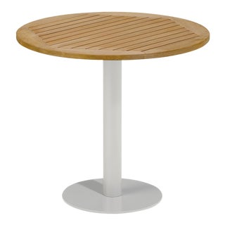 """32"""" Round Outdoor Bistro Table, Natural For Sale"""