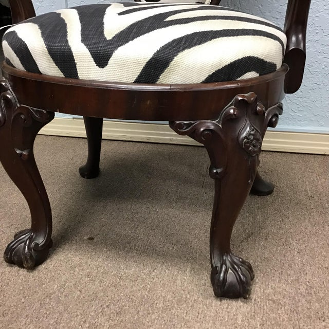 Late 19th Century Animal Print Armchair For Sale - Image 5 of 11