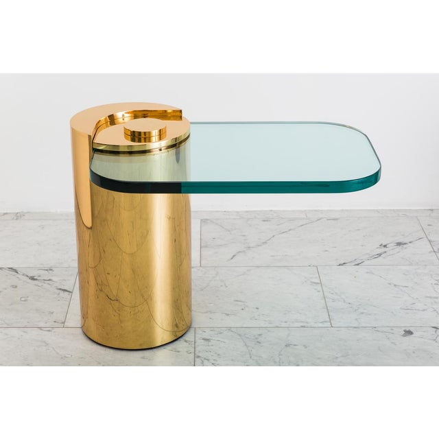 Polished Bronze Sculpture Leg Table, Usa For Sale - Image 9 of 10