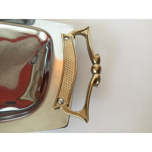 Metal 1960s Space Age Brass Serving Trays - Set of 2 For Sale - Image 7 of 13