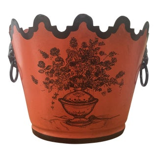 Vintage Italian Tole Cachepot