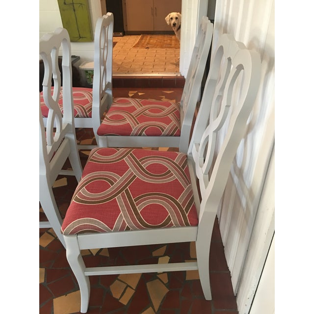 Dove Gray Ribbon Back Chairs - Set of 4 - Image 4 of 8