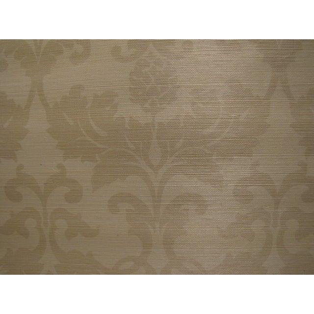 """Schumacher Grasscloth """"Beau Damasse"""" Wallpaper - Image 2 of 2"""