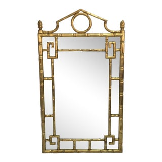 La Barge Gilt Wood Faux Bamboo Mirror For Sale