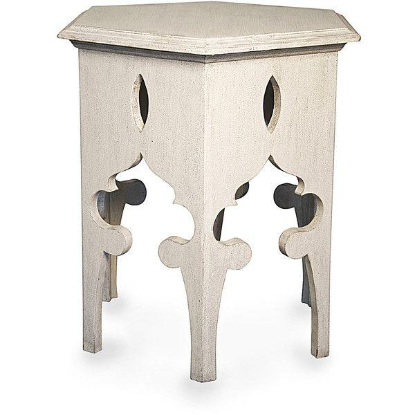 Moroccan Style White Wooden End Tables - a Pair - Image 3 of 10