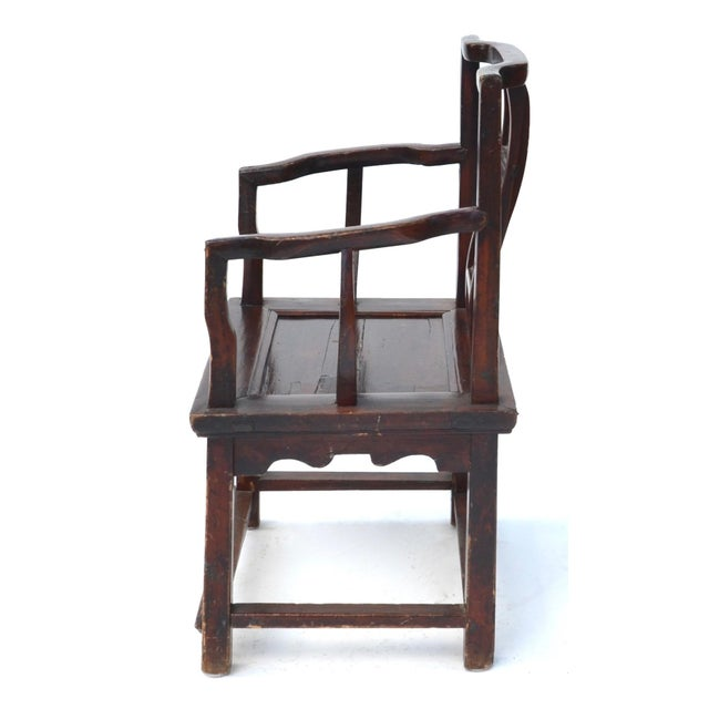 Antique Chinese Wood Carved Chair - Image 5 of 8