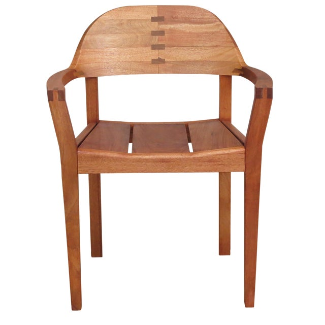 Mid Century Modern Dining or Desk Chairs Sustainably Sourced Royal Mahogany. Xiloa Chairs - 4 - Image 1 of 9