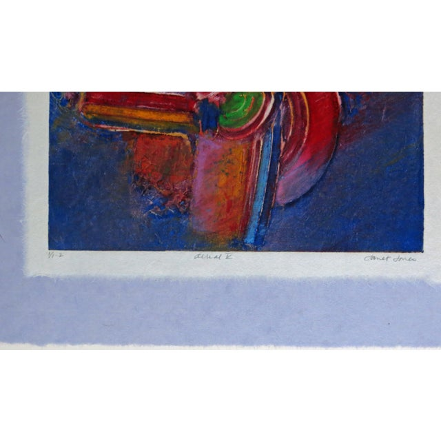 Abstract Aerial V Abstract Monotype With Chine Colle and Embossing by Janet Jones For Sale - Image 3 of 5