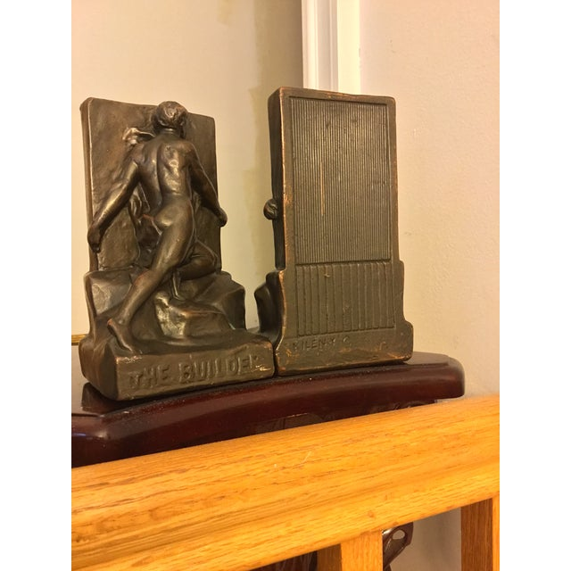 Art Deco Signed Kileny Bronze Bookends - A Pair For Sale - Image 3 of 7
