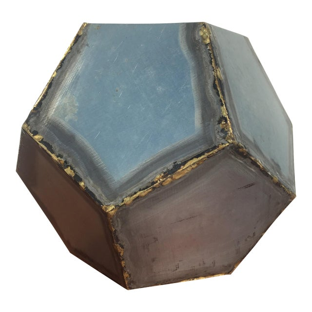 Brutalist Zinc Geometric Planter - Image 1 of 5