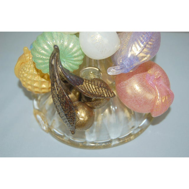 Vintage Murano Glass Table Lamp Barovier Fruit For Sale In Little Rock - Image 6 of 12
