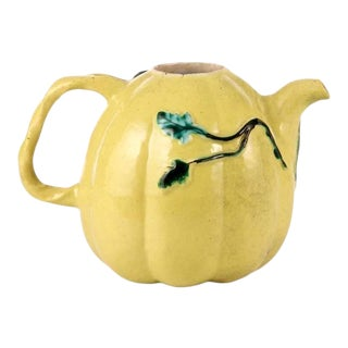 Early 20th Century Chinese Qing Dynasty Porcelain Tea Pot For Sale