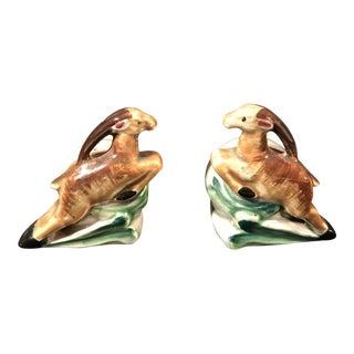 Art Deco Style Gazelle Salt & Pepper Shakers - A Pair