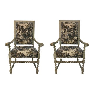 Currey & Co. French Country Style Madrid Chairs - A Pair For Sale
