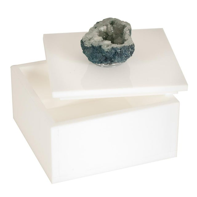 White Box With Beryl Druzy Top - Small - Image 2 of 3