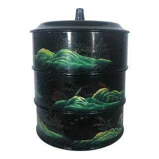 Mid-Century Japanese Lacquerware Stacking Boxes - 3 Pc. For Sale