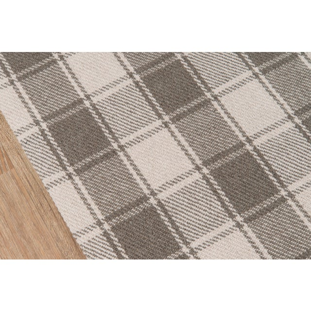 """Modern Erin Gates by Momeni Marlborough Charles Grey Hand Woven Wool Area Rug - 3'6"""" X 5'6"""" For Sale - Image 3 of 8"""