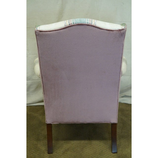 Highland House Hickory Queen Anne Wing Chair - Image 4 of 10