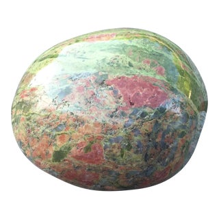 1990s Green Stone Paperweight For Sale