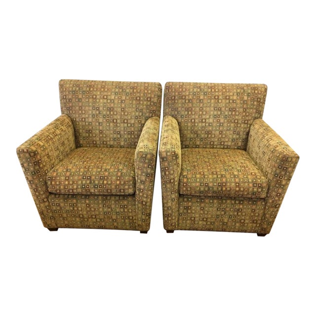 Maurice Villency Mid-Century Matching Arm Chairs Reading Chairs - a Pair For Sale